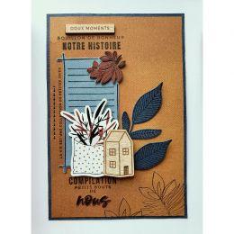 Papier Uni N°21 AMBRE par Florilèges Design. Scrapbooking et loisirs créatifs. Livraison rapide et cadeau dans chaque commande.