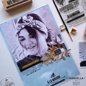 Tampon bois TROIS FEUILLES par Florilèges Design. Scrapbooking et loisirs créatifs. Livraison rapide et cadeau dans chaque co...