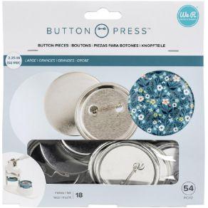 18 recharges de badges pour Button Press LARGE 58 MM par We R Memory Keepers. Scrapbooking et loisirs créatifs. Livraison rap...