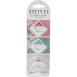 3 encreurs Nuvo Diamond Hybrid Ink MERRY & BRIGHT