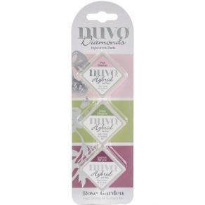 3 encreurs Nuvo Diamond Hybrid Ink ROSE GARDEN