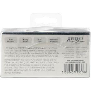 4 pots de paillettes Nuvo Pure Sheen Glitter WHITE WONDERLAND par Tonic Studios. Scrapbooking et loisirs créatifs. Livraison ...