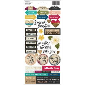Planche de stickers 15 x 30 Vicki Boutin Storyteller ACCENTS & PHRASES