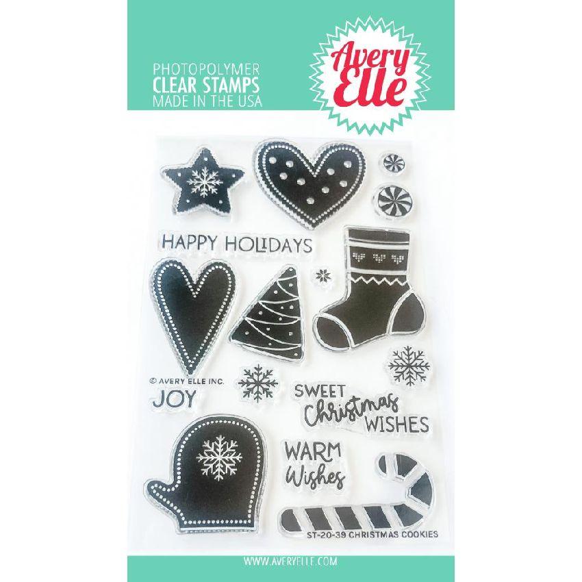 Tampons clear CHRISTMAS COOKIES par Avery Elle. Scrapbooking et loisirs créatifs. Livraison rapide et cadeau dans chaque comm...