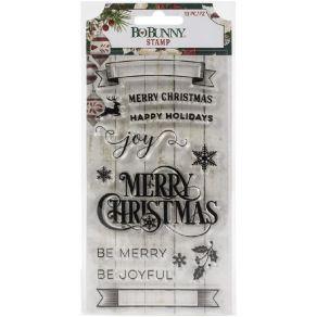 Tampons clear JOYFUL CHRISTMAS par Bo Bunny. Scrapbooking et loisirs créatifs. Livraison rapide et cadeau dans chaque commande.