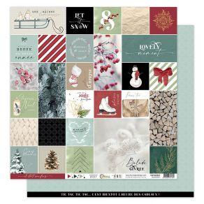 Papier imprimé OH WINTER 1 par Florilèges Design. Scrapbooking et loisirs créatifs. Livraison rapide et cadeau dans chaque co...