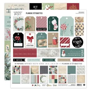 Kit imprimé OH WINTER par Florilèges Design. Scrapbooking et loisirs créatifs. Livraison rapide et cadeau dans chaque commande.