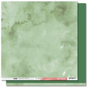 Papier uni 30,5 x 30,5 cm Back To Basics JARDIN D'HIVER 9 VERT FEUILLAGE