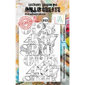 Tampons clear AALL and Create NEWSPRINT NUMBERS 434 par AALL & Create. Scrapbooking et loisirs créatifs. Livraison rapide et ...