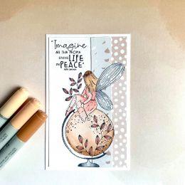 Tampon non monté Esprit Cottage ECOUTER LES ETOILES par Chou and Flowers. Scrapbooking et loisirs créatifs. Livraison rapide ...