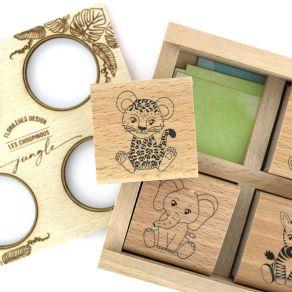 Coffret créatif LES CHOUPINOUS JUNGLE par Florilèges Design. Scrapbooking et loisirs créatifs. Livraison rapide et cadeau dan...
