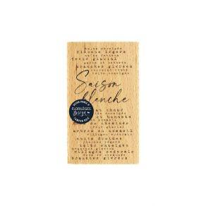 Tampon bois SAISON BLANCHE par Florilèges Design. Scrapbooking et loisirs créatifs. Livraison rapide et cadeau dans chaque co...