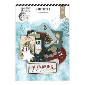 Die cuts imprimés Oh Winter CALENDRIER DE L'AVENT