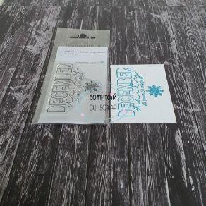 Tampon clear DECEMBER DAILY par Comptoir du Scrap. Scrapbooking et loisirs créatifs. Livraison rapide et cadeau dans chaque c...