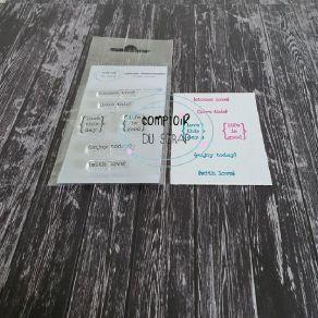 Tampon clear LOVE THIS par Comptoir du Scrap. Scrapbooking et loisirs créatifs. Livraison rapide et cadeau dans chaque commande.