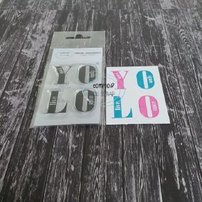 Tampon clear YOLO par Comptoir du Scrap. Scrapbooking et loisirs créatifs. Livraison rapide et cadeau dans chaque commande.