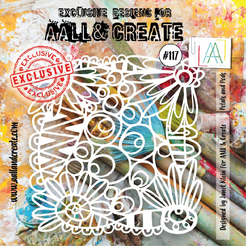 Pochoir AALL and Create PETALS AND PODS 117
