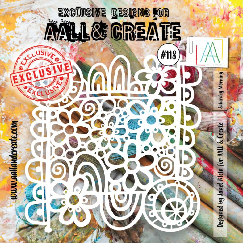Pochoir AALL and Create SATURDAY MORNING 118