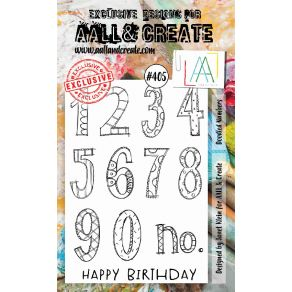 Tampons clear AALL and CREATE DOODLED NUMBERS 405
