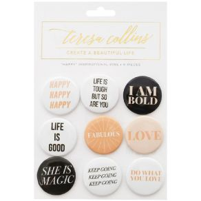 9 badges Teresa Collins HAPPY par Teresa Collins. Scrapbooking et loisirs créatifs. Livraison rapide et cadeau dans chaque co...