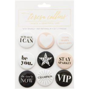 9 badges Teresa Collins STAY SPARKLY par Teresa Collins. Scrapbooking et loisirs créatifs. Livraison rapide et cadeau dans ch...