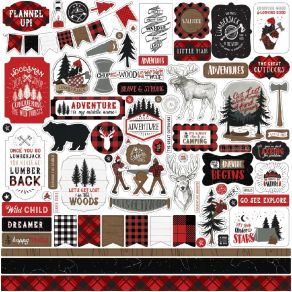 Planche de stickers Let's Lumberjack ELEMENTS