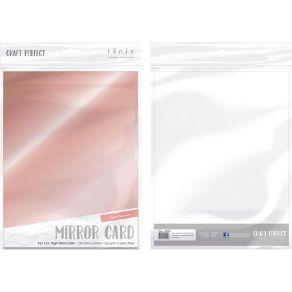 5 papiers miroirs Craft Perfect Mirror ROSE PLATINUM