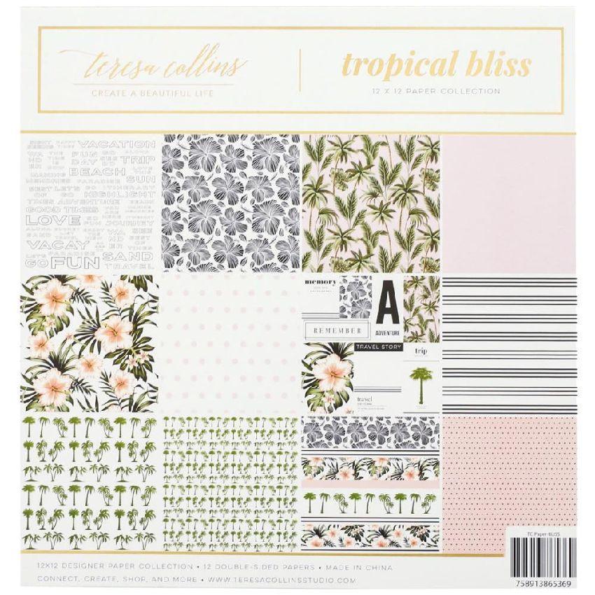 Kit collection TROPICAL BLISS par Teresa Collins. Scrapbooking et loisirs créatifs. Livraison rapide et cadeau dans chaque co...