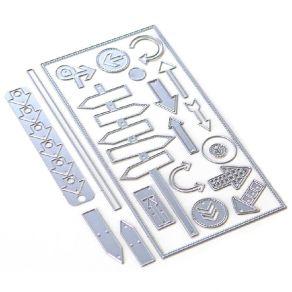 Outils de découpe PLANNER ESSENTIALS 29 -DIRECTIONS par Elizabeth Craft Designs. Scrapbooking et loisirs créatifs. Livraison ...
