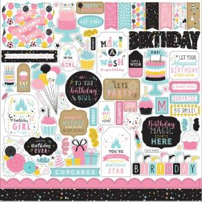 Stickers Magic Birthday Girl ELEMENTS