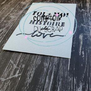 Outils de découpe HISTOIRE DE LOVE par Comptoir du Scrap. Scrapbooking et loisirs créatifs. Livraison rapide et cadeau dans c...