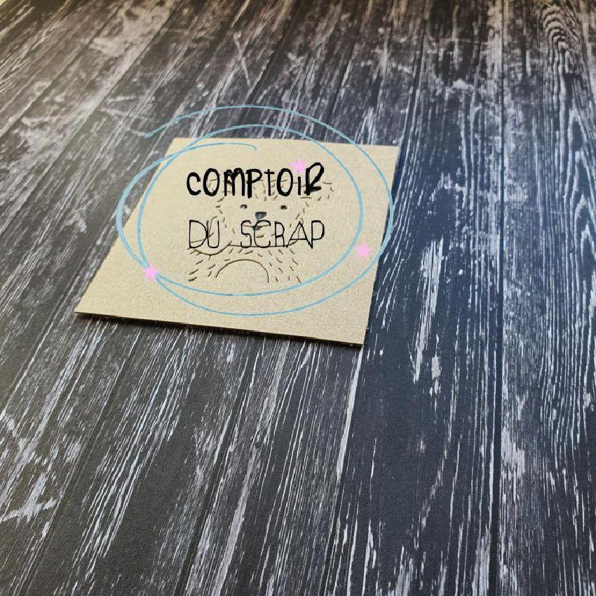 Outils de découpe OURSON par Comptoir du Scrap. Scrapbooking et loisirs créatifs. Livraison rapide et cadeau dans chaque comm...