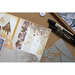Tampon clear FLEURS EN FOLIE par Comptoir du Scrap. Scrapbooking et loisirs créatifs. Livraison rapide et cadeau dans chaque ...