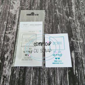 Tampon clear NOUS par Comptoir du Scrap. Scrapbooking et loisirs créatifs. Livraison rapide et cadeau dans chaque commande.