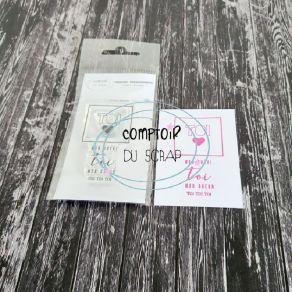 Tampon clear TOI par Comptoir du Scrap. Scrapbooking et loisirs créatifs. Livraison rapide et cadeau dans chaque commande.