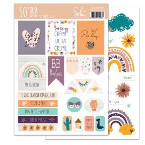 Planche d'étiquettes SO'BB 1 par Sokai. Scrapbooking et loisirs créatifs. Livraison rapide et cadeau dans chaque commande.