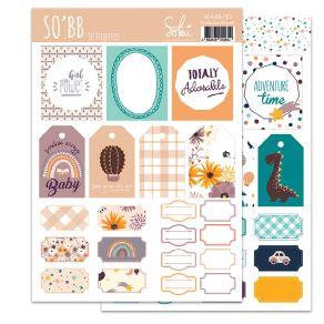 Planche d'étiquettes SO'BB 2 par Sokai. Scrapbooking et loisirs créatifs. Livraison rapide et cadeau dans chaque commande.