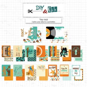 Set de cartes pour Project Life YOU ROCK par DIY and Cie. Scrapbooking et loisirs créatifs. Livraison rapide et cadeau dans c...