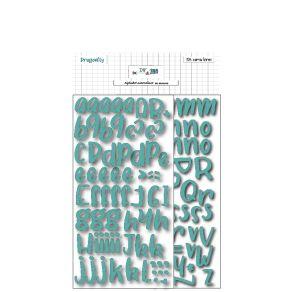 Stickers alphabet en mousse TURQUOISE par DIY and Cie. Scrapbooking et loisirs créatifs. Livraison rapide et cadeau dans chaq...