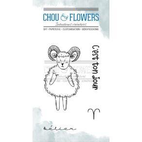 Tampons clear DOUDOU BELIER par Chou and Flowers. Scrapbooking et loisirs créatifs. Livraison rapide et cadeau dans chaque co...