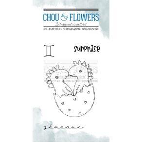 Tampons clear DOUDOU GEMEAUX par Chou and Flowers. Scrapbooking et loisirs créatifs. Livraison rapide et cadeau dans chaque c...