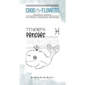 Tampons clear DOUDOU POISSON par Chou and Flowers. Scrapbooking et loisirs créatifs. Livraison rapide et cadeau dans chaque c...