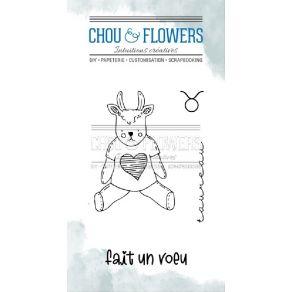 Tampons clear DOUDOU TAUREAU par Chou and Flowers. Scrapbooking et loisirs créatifs. Livraison rapide et cadeau dans chaque c...