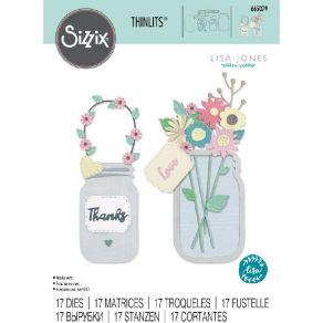 Outils de découpe JAR OF FLOWERS par Sizzix. Scrapbooking et loisirs créatifs. Livraison rapide et cadeau dans chaque commande.