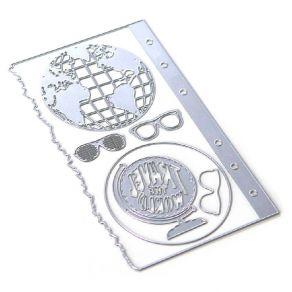 Outils de découpe PLANNER ESSENTIALS 28 GLOBE par Elizabeth Craft Designs. Scrapbooking et loisirs créatifs. Livraison rapide...
