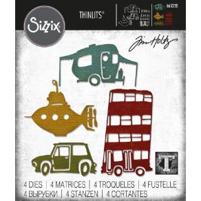 Outils de découpe Tim Holtz WACKY TRANSPORT 1 par Sizzix. Scrapbooking et loisirs créatifs. Livraison rapide et cadeau dans c...