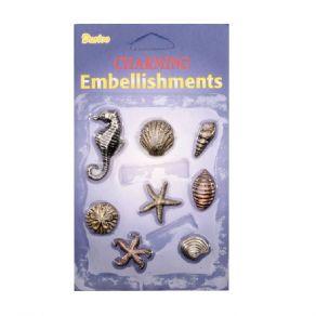 Embellissements en métal COQUILLAGES par Darice. Scrapbooking et loisirs créatifs. Livraison rapide et cadeau dans chaque com...