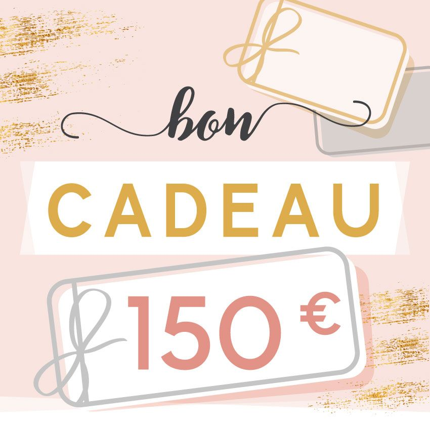 BON CADEAU 150 EUROS par . Scrapbooking et loisirs créatifs. Livraison rapide et cadeau dans chaque commande.