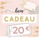 BON CADEAU 20 EUROS par . Scrapbooking et loisirs créatifs. Livraison rapide et cadeau dans chaque commande.