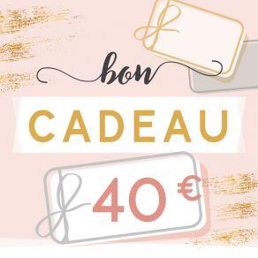 BON CADEAU 40 EUROS par . Scrapbooking et loisirs créatifs. Livraison rapide et cadeau dans chaque commande.